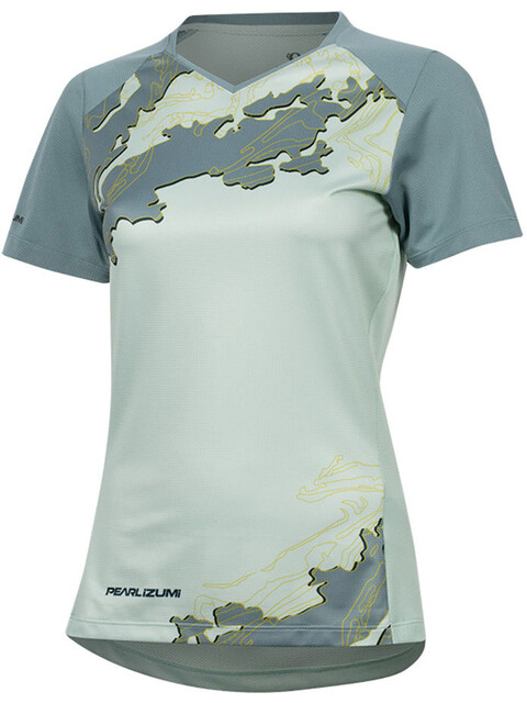 PEARL iZUMi Launch Short Sleeve Jersey Women mist green/arctic composite